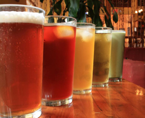 chilled teas in tall glasses